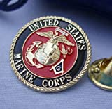 Masonic USMC Marine Corps Lapel Pin from Hibiscus Express