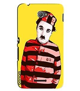 Omnam Charlie Chaplin In Jail Dress Effect Designer Back Cover Case for Xperia E4