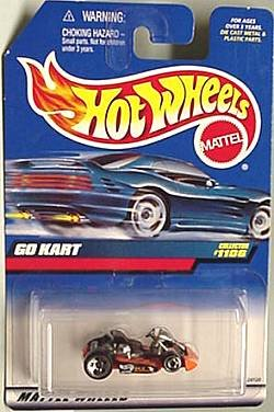 Mattel Hot Wheels 1999 1:64 Scale Orange Go Kart Die Cast Car Collector #1106 - 1