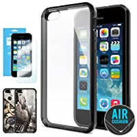 SPIGEN IPhone 5S Case Bumper **NEW Release** [Ultra Hybrid] [Black] FREE Screen Protector + 2 FREE Design Graphics...