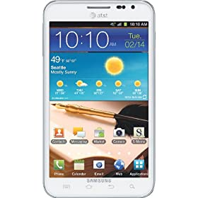 Samsung Galaxy Note 4G Android Phone, White (AT&amp;T)