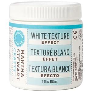 Martha Stewart 32222 4-Ounce White Texture Effect