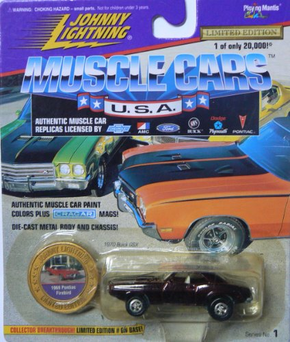 Johnny Lightning Muscle Cars U.S.A. Series No. 1 Maroon 1969 Pontiac Firebird
