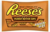 Reeses Peanut Butter Cups, Snack Size, 10.5-Ounce Packages (Pack of 6)