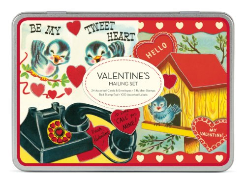 Valentine's Mailing Set [With 24 Glittered Cards