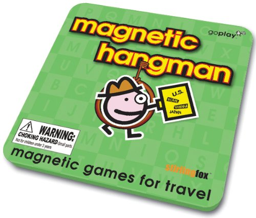 Bingo Magnectic Hangman New Metal Case Travel Games - 1