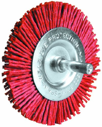 Century Drill and Tool 77441 Coarse Nylon Abrasive Radial Brush, 4-Inch