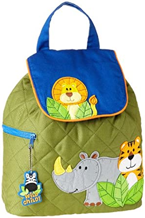 Stephen Joseph Jungle Kids Quilted Backpack