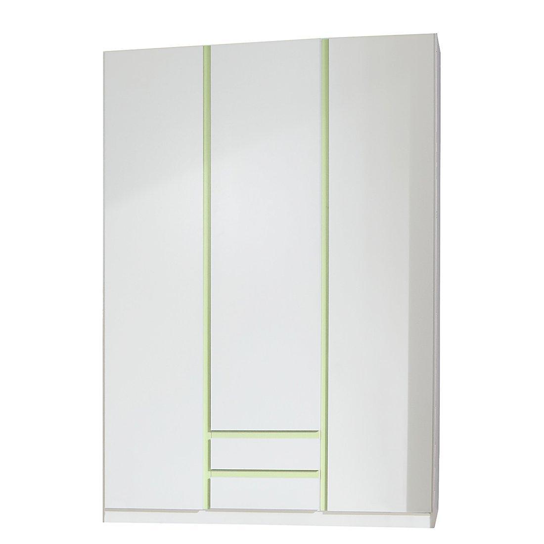 Kleiderschrank »BIRBA166« alpinweiß apfelgrün