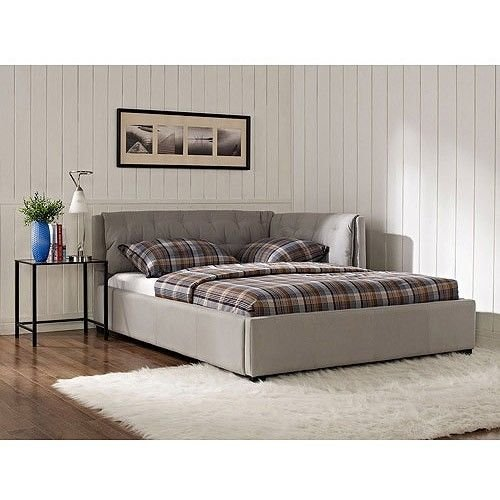 Lowest Prices! Stone Canvas Upholstered Full Size Lounge Day Couch Bed Bedroom Furniture Decor. The ...