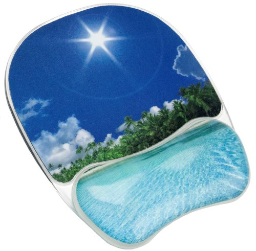 Fellowes Photo Gel Mouse Pad Wrist Support - Tropical Beach