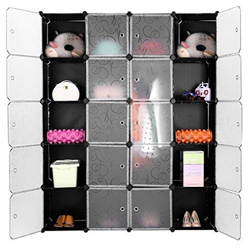 finether-20-cube-penderie-motif-de-fleur-boucle-noir-interverrouillage-storage-modulaire-organisateu