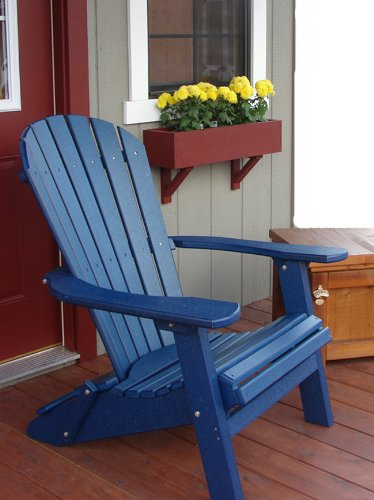 Forever Phat Tommy Deluxe Recycled Poly Wide Folding Adirondack Chair   Blue