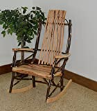 Rustic Hickory 9-Slat Rocker *ALL HICKORY* Amish Made USA