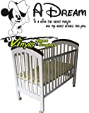 MINNIE MOUSE/MICKEY MOUSE A DREAM IS A WISH THE HEART MAKES AND MY HEART WISHED FOR YOU DISNEY FONT Any Colour Just Message us. 550mm x 1000mm Large Vinyl Wall art Decal Sticker Kids Bedroom BABY NURSERY KITCHEN LIVINGROOM