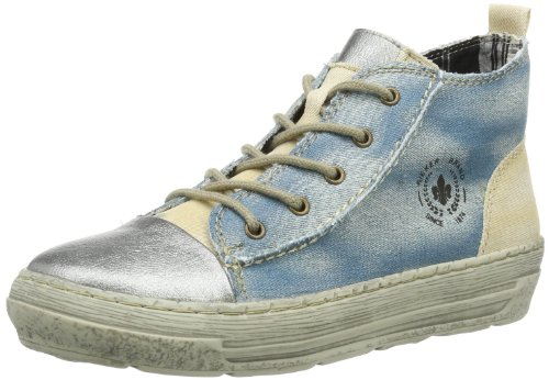 Rieker Antistress 98122 Damen Stiefel, Blau (stahl/sky/muschel 42), EU 41