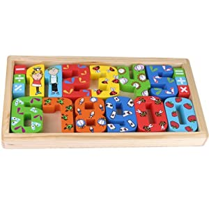 Charlie and Lola Wooden Numbers Set