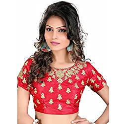 Renishafashion Women's Exclusive Self Designer Blouse Collection(Red)