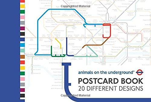 Animals on the Underground Postcard Book