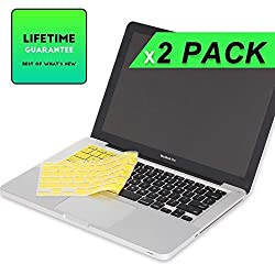 LENTION Premium Ultra Thin Soft Silicone Keyboard Cover Skin Protector for Apple MacBook Pro 13 15 17 Inch with or without Retina Display iMac and MacBook Air 13 Inch (Yellow)