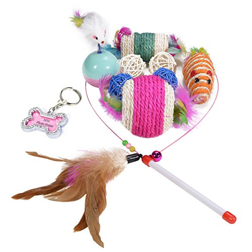 Small feather cat toys