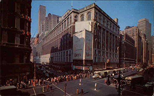 Herald Square Showing Macy'S Department Store New York, Ny Original Vintage Postcard