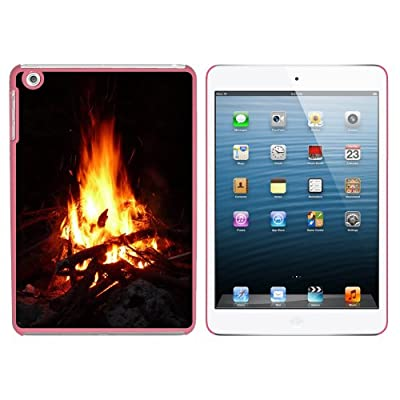 Campfire - Camp Camping Fire Pit Logs Flames Snap On Hard Protective Case For Apple Ipad Mini 1st Gen - Pink by Graphics and More