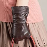 Kursheuel Women's Nappa Soft Suede warm Lined Winter Leather Gloves Ku035 by NYC Leather Factory Outlet