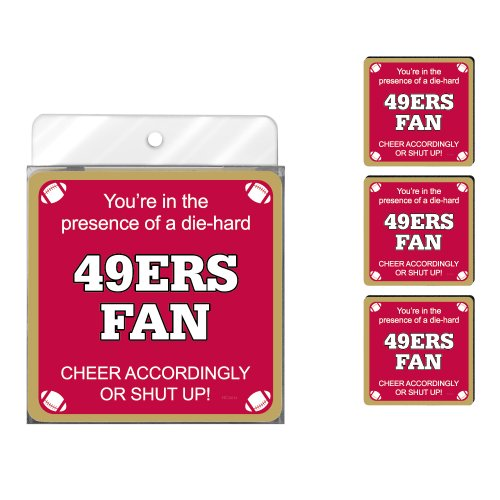 Tree-Free Greetings NC38134 49ers Football Fan 4-Pack Artful Coaster Set at Amazon.com