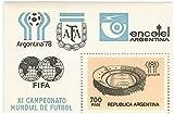 El 1978 los coleccionistas Argentina hoja de sellos miniatura Copa Worid FIFA con un sello con el estadio luego de nueva construcción en Cardoba. MNH / 1978/700 pesos argentinos.