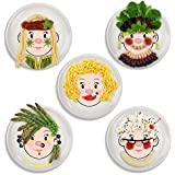 Fred and Friends MS FOOD FACE Kids Dinner Plate (2 Pack)