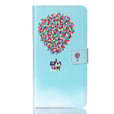 Note 5 Case, JCmax [Lady Series] PU Leather Case [Card Pockets] Magnetic Switch Folio Cover [Built-in Stand] Shock Resistant With Super Fitted Skin for Galaxy Note 5 - Balloon House