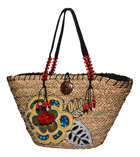 physician-endorsed-womens-brasilia-straw-tote-with-pockets-and-coconut-button-red-multi-one-size