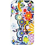 Colorful Flower Flexible Gel Case for Apple iPhone 4, 4S Fits AT&T, Verizon, Sprint