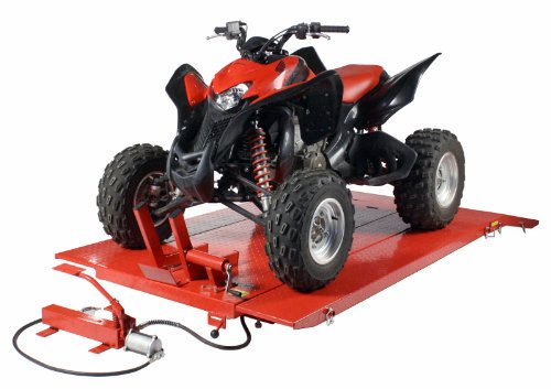 1500 LB Air Hydraulic Lift Hoist Jack Motorcycle Lawn Mower ATV Tractor XUV