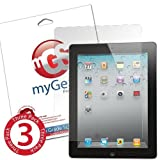 myGear Products iPad 4, 3, 2 Lifeguard Clear Screen Protectors ***LIFETIME WARRANTY** 3 Pack Retail Packaging ~ myGear Products