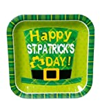 20-Count 9 Inch (22.9cm)~ Happy St. Patrick s Day! ~ Square Plates