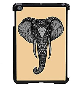 PRINTVISA Elephant Head Premium Metallic Insert Back Case Cover for Apple IPad Mini 2 - D5946