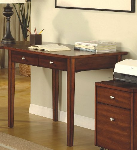 Contemporary Cherry Finish Home Office Small Writing Desk