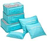 ange select トラベル ポーチ 6点 セット 衣類 小物 収納 ナイロン メッシュ 防水 バッグ 便利 ケース 旅行 出張