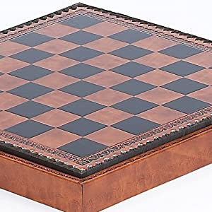 Marcello Chess & Checkers Board from Italy- Squares 1 3/8""