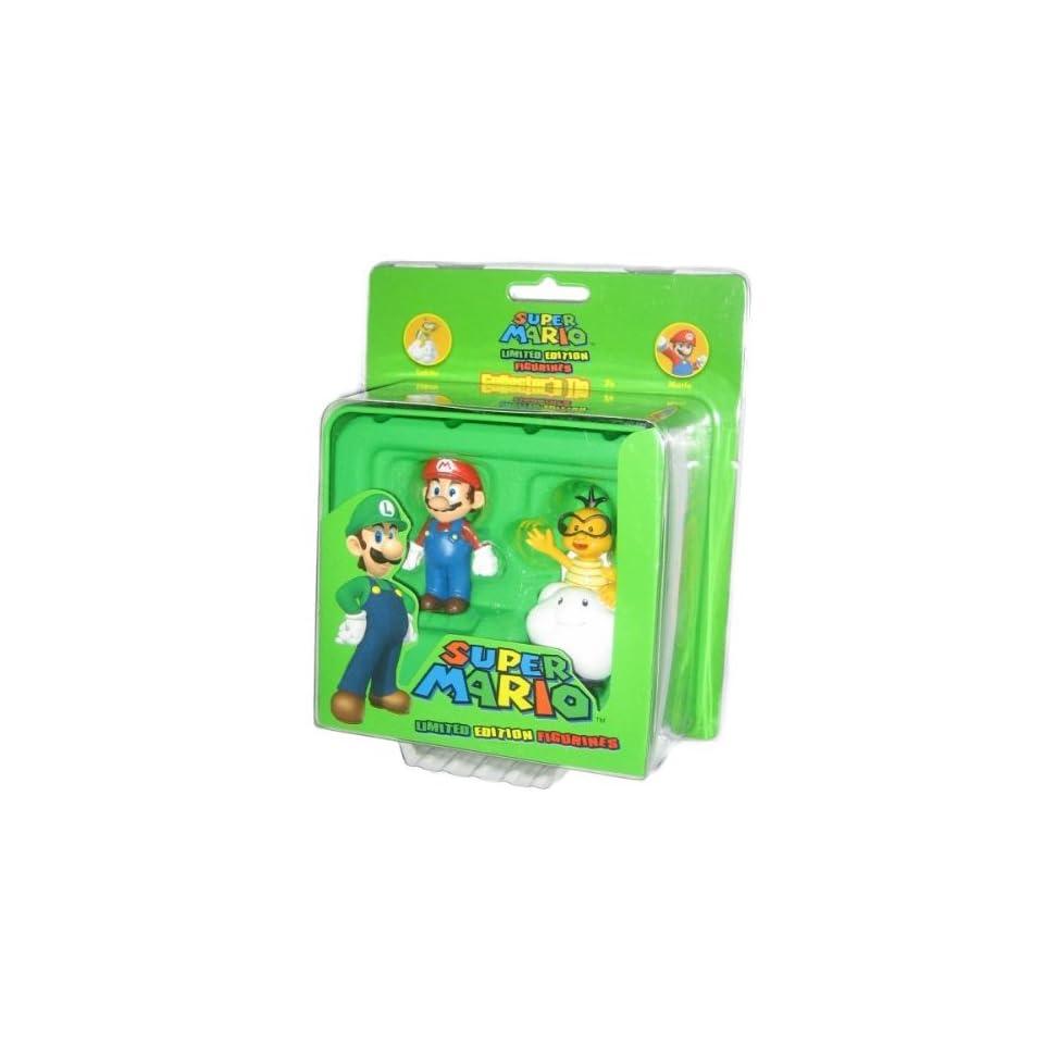 Nintendo Super Mario Bros. Collector Tin Mario and Lakitu Figure Set GH332