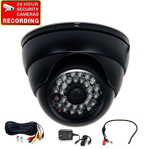 Videosecu Built-In 1/3'' Sony Effio Ccd Day Night Vision Outdoor Ir Cctv Security Camera 600Tvl 28 Infrared Leds Wide Angle High Resolution Vandal Proof Weatherproof With Pre-Amp Mini Hidden Microphone, Extension Cable And Power Supply Wq7