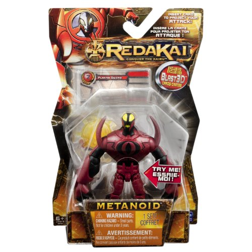 Redakai - Basic Figure with Card - Red Metanoid