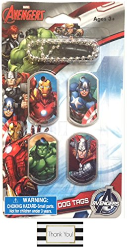 Marvel Avengers Dog Tag Necklace with 4 Interchangeable Tags (Captain America Super Soldier Wii compare prices)