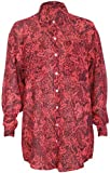 Womens Long Sleeve Snakeskin Animal Print Ladies Collar Front Button Fastening Chiffon Blouse Shirt Top