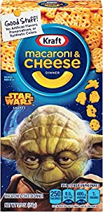 Kraft Blue Box Mac and Cheese Dinner Star Wars Shapes, 5.5 Ounce (Pack of 12)