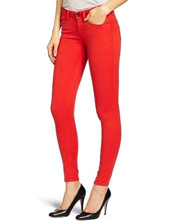 Levi's Women's Sateen Legging, Metro Red, 27 Medium