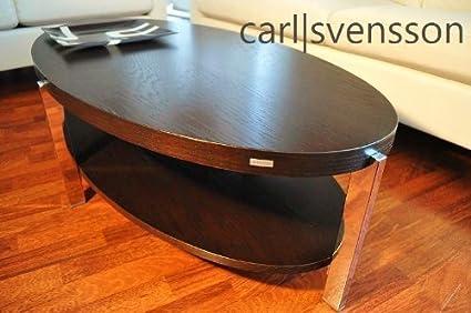 DESIGN COUCHTISCH O-111 Walnuss / Wenge oval Carl Svensson NEU Tisch