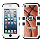 Phonetatoos (TM) for iPod touch (5th generation) Basketball-Sports Collection/Black TUFF Hybrid Phone Protector Cover (with Stand) - Lifetime Warranty
